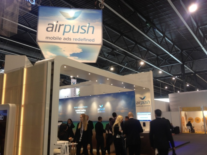 The AirPush impressive booth