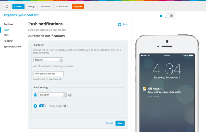 Be cool and use automatic notifications
