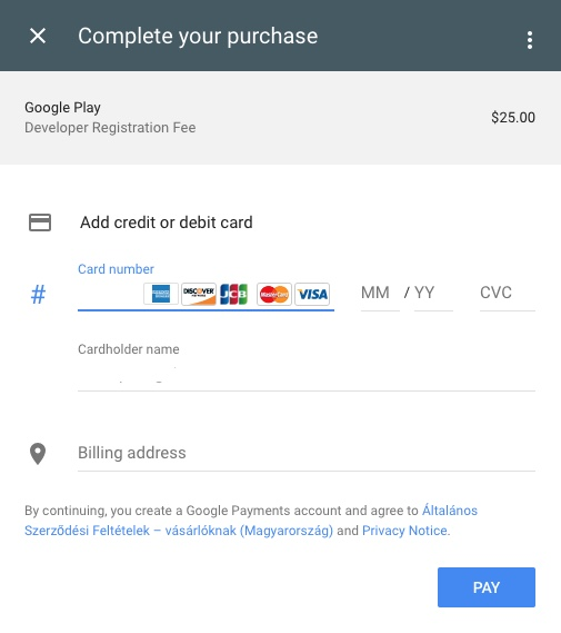 How to open a publisher account on Google Play?