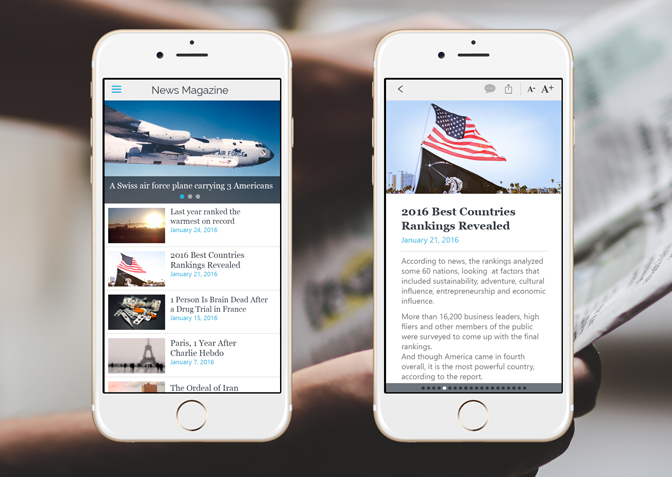 How to create a good app for a news website?