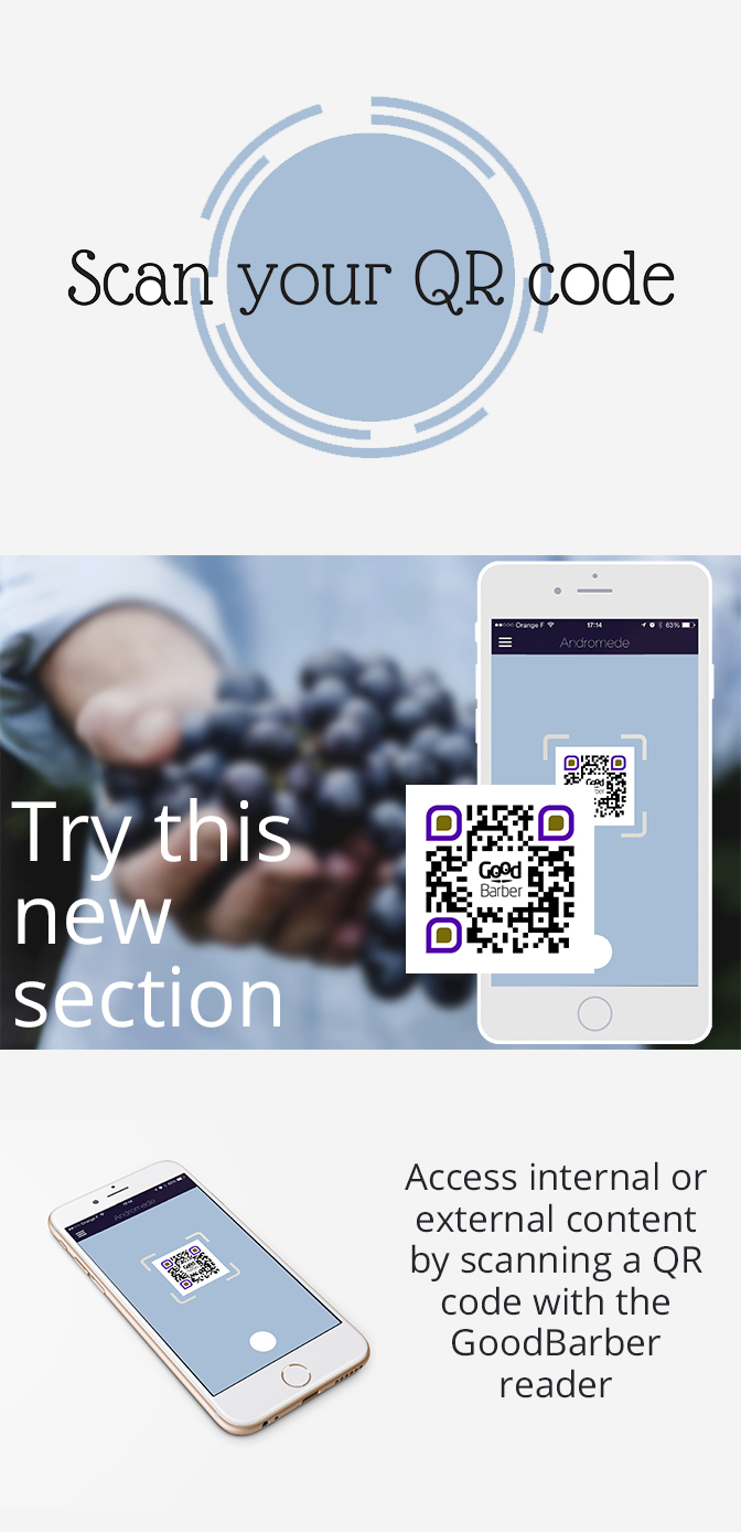 QR code Reader - Now it's a GoodBarber Native Section