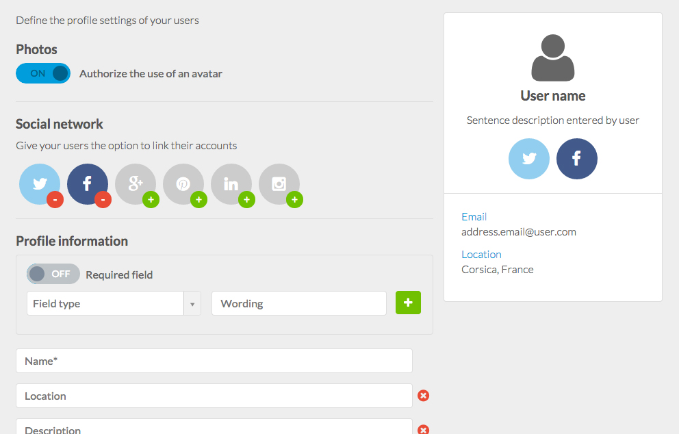 Enable the In-App login with the new GoodBarber User Authentication feature