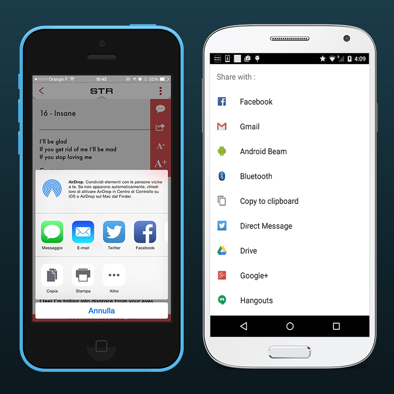 Native sharing of iOS and Android - Better, Easier, Cooler.