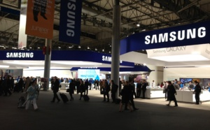 Few steps in the Hall 3 of Mobile World Congress