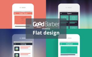 Flat design meets GoodBarber