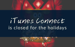 iTunes Connect is closed for Christmas - 2015 Winter Holiday